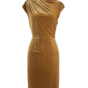 Golden Midi Bodycon Dress